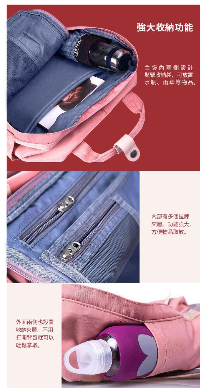 (複製)IBAOBAO愛包包|Doughnut 防潑水馬卡龍後背包-紅莓