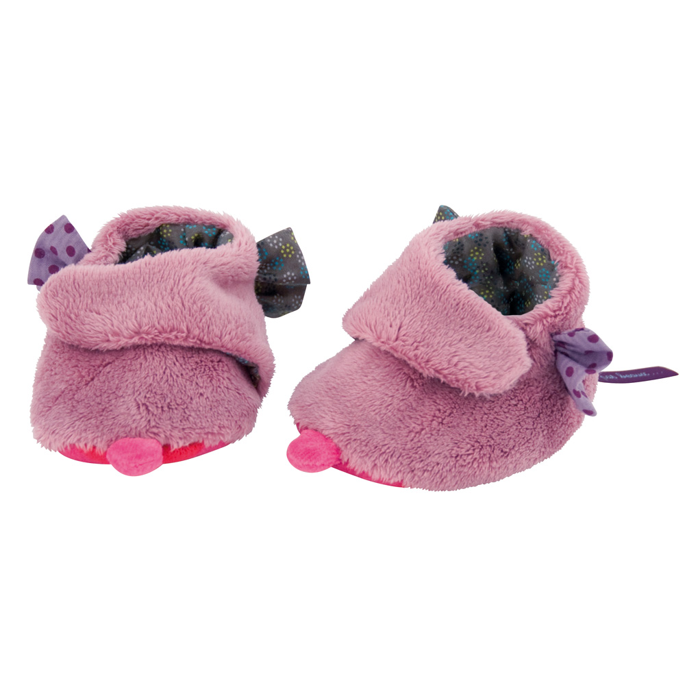 法國 Moulin Roty|喬麗絲粉紫女寶寶專用保暖鞋套禮盒0-6個月