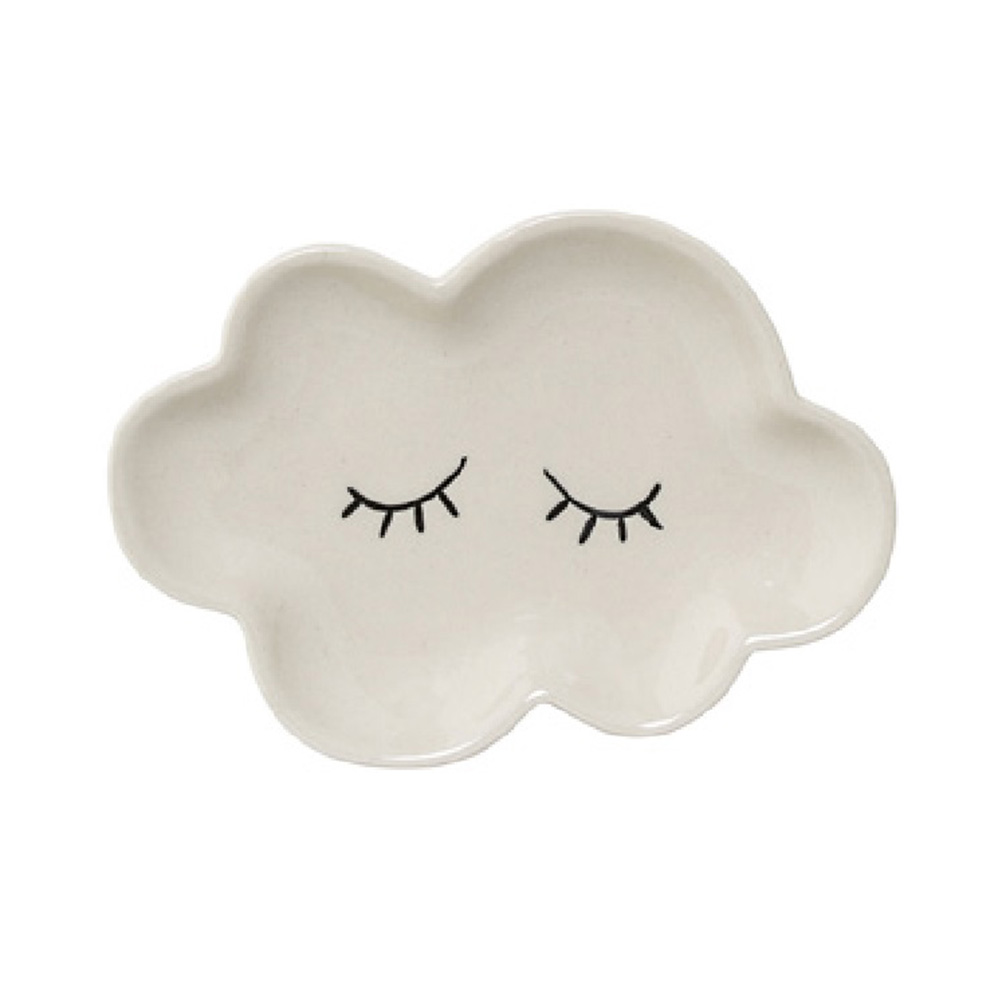 Bloomingville|睫毛彎彎 小雲朵瓷盤(白)
