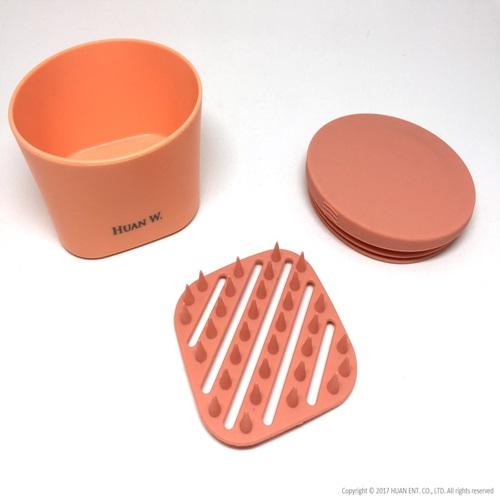 HUAN W.|Soapmate 旅行皂盒-珊瑚橘