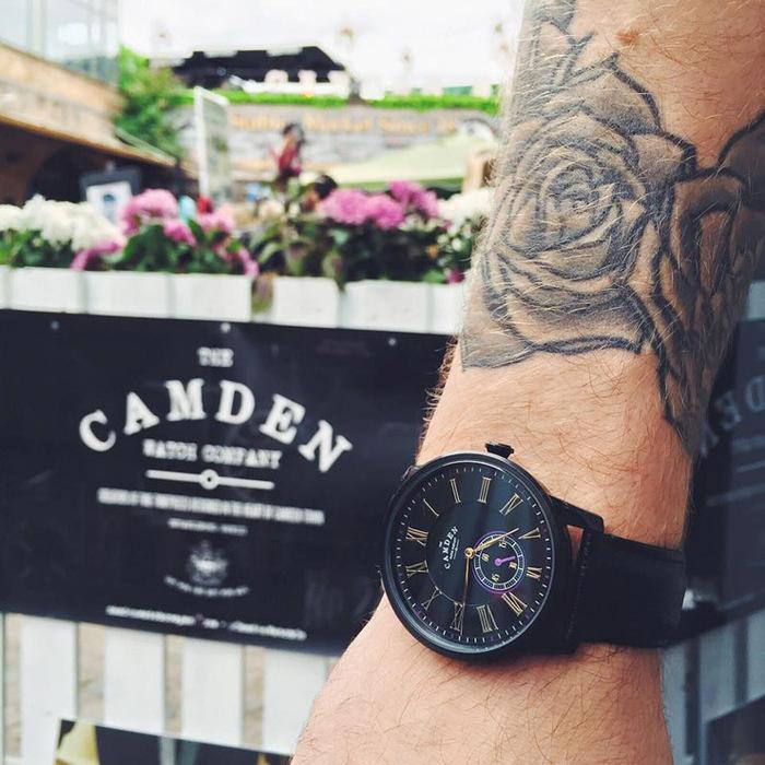 Camden Watch|NO29系列 純英國血統 單眼秒針黑潮年度限量真皮腕錶