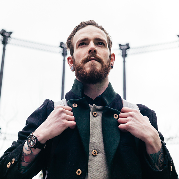 Camden Watch |純英國血統 酷黑潮流大刻度真皮腕錶