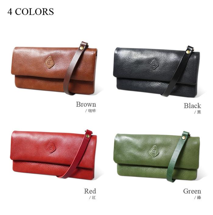 CLEDRAN|日本製手工真皮時尚2WAY手拿包/斜肩包