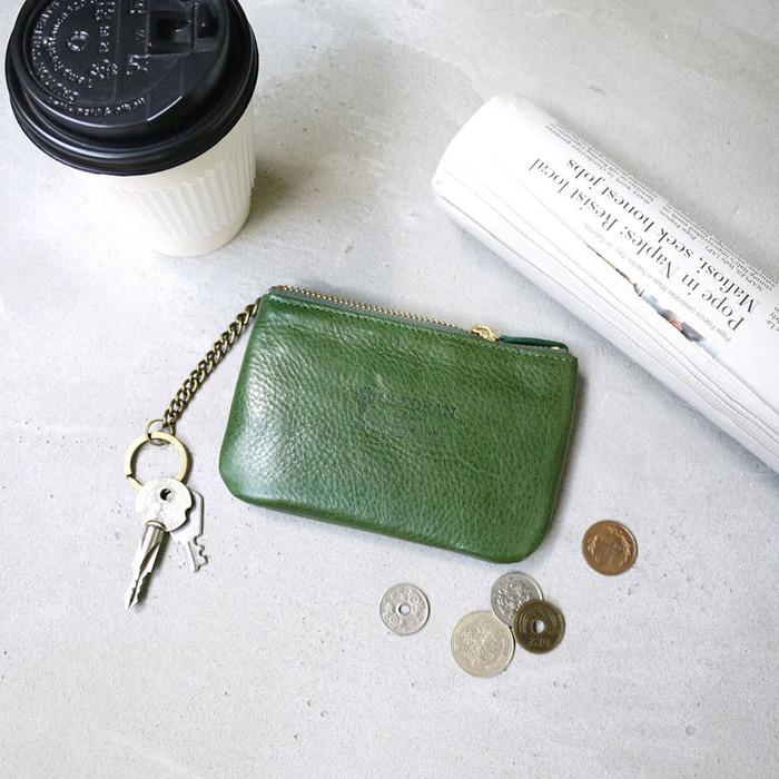 CLEDRAN|質感生活 簡約植鞣牛皮小物收納包/零錢/鑰匙包