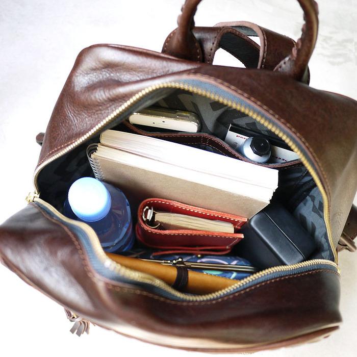 ROBITA|職人手作 個性手染皮革編織方型後背包