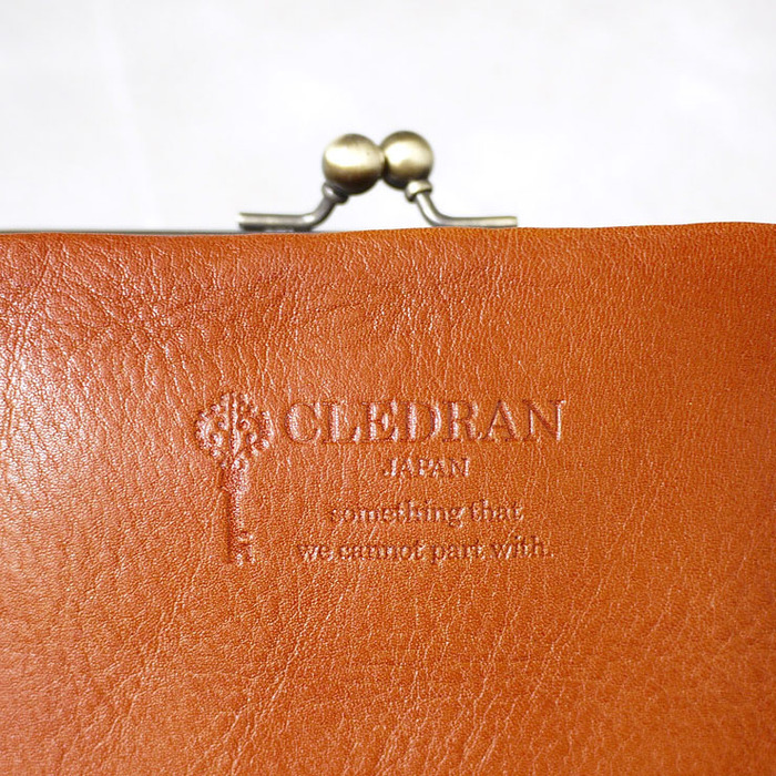 CLEDRAN|日本復古款 經典銖釦真皮短夾