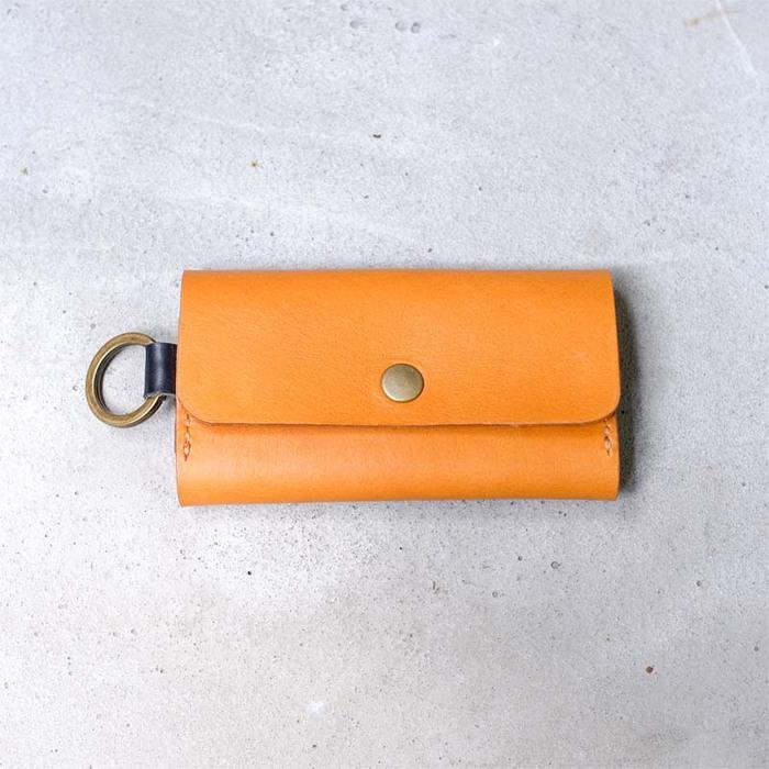 HANDIIN|日系跳色植鞣牛皮鑰匙包