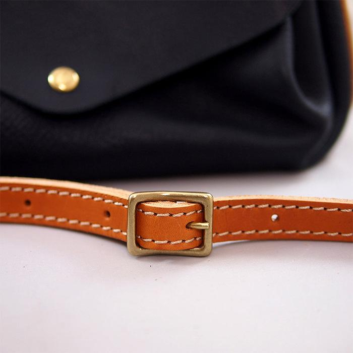 CHAM|原創皮革,知性日系摺邊側背包