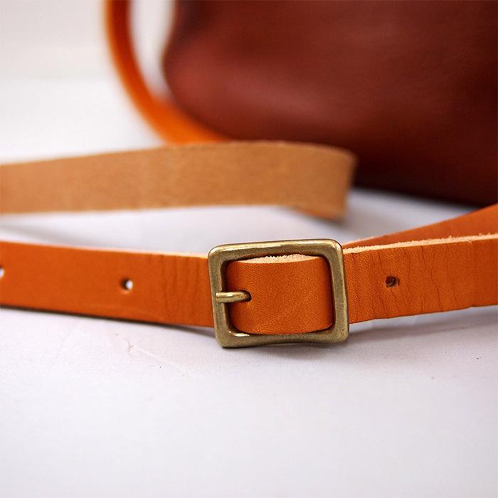 CHAM| 日系手工款 原味植鞣牛皮側背包