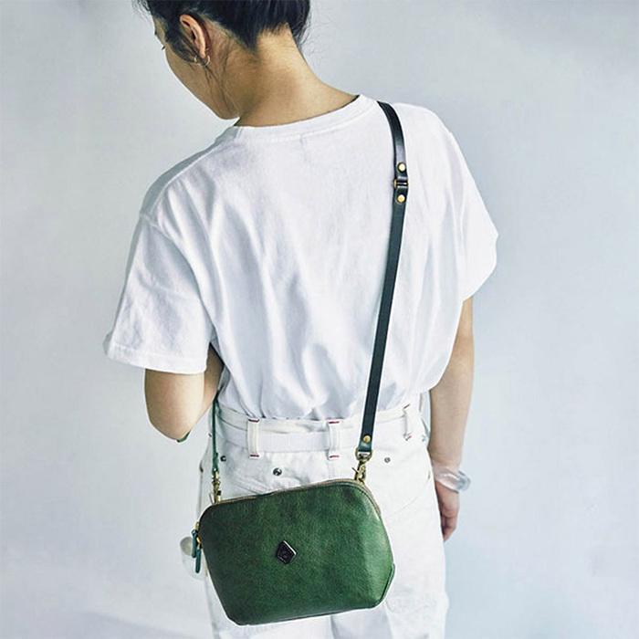 CLEDRAN 日系休閒隨身兩用側背包/手拿包