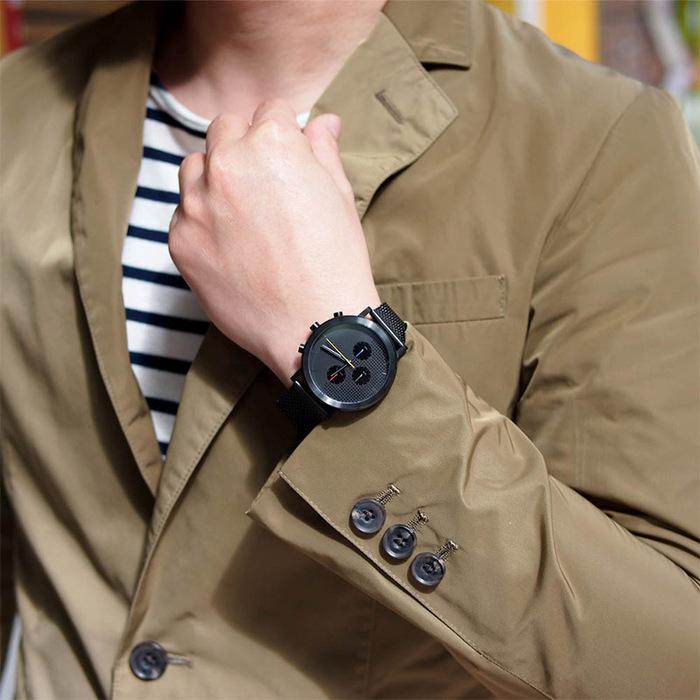 HYGGE|都會時尚,機能金屬腕錶(不銹鋼霧黑、金屬霧黑錶帶)