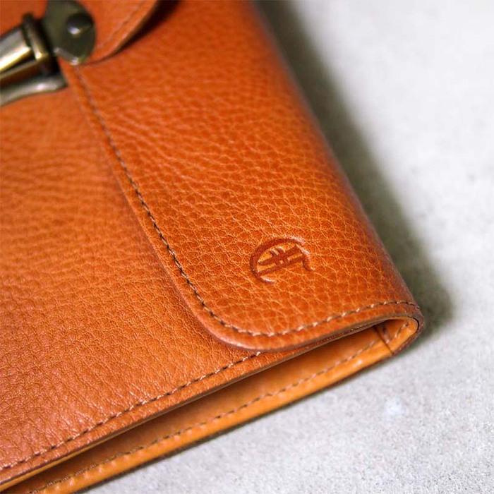 CLEDRAN|日系復古金屬銅釦,熟感格調多夾層牛皮長夾