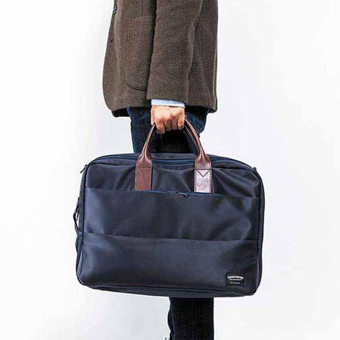 WONDER BAGGAGE|都會時尚 日本高抗水尼龍商務電腦三用包
