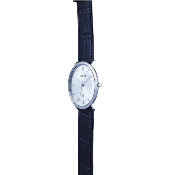 HYGGE|沉穩風範 獨特格調輕薄真皮腕錶