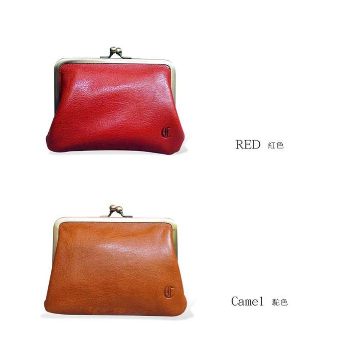 CLEDRAN|日系復古甜美 珠扣多夾層牛皮零錢包