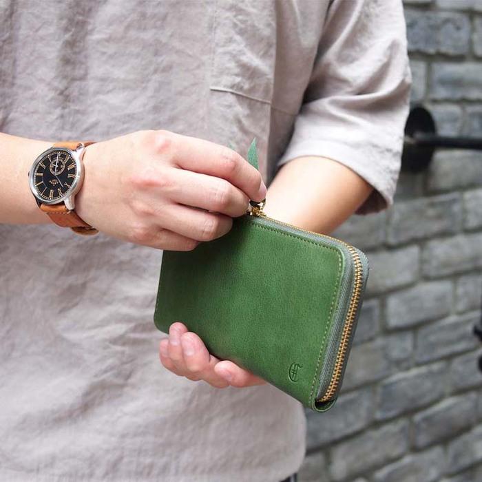 CLEDRAN|日系手作質感紳士多層長夾