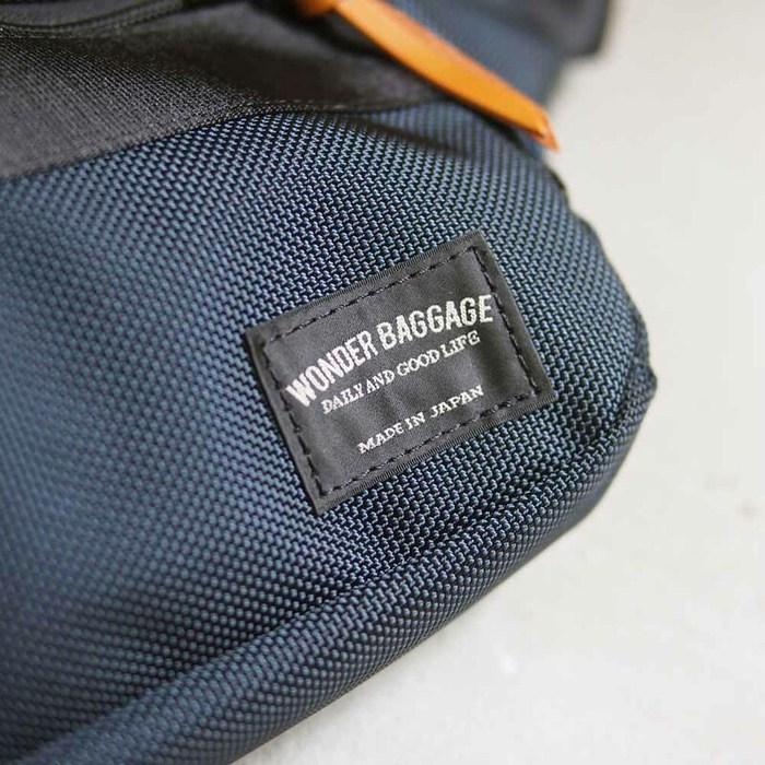 WONDER BAGGAGE 日系休閒率性 防潑水尼龍側背/腰包