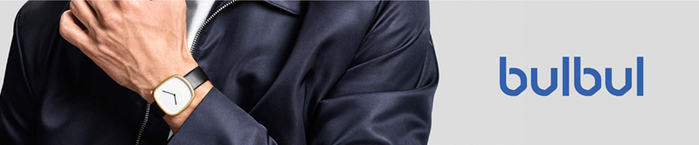 BULBUL丹麥製 簡約時尚真皮腕錶 40mm,不銹鋼金、質感棕色皮革錶帶