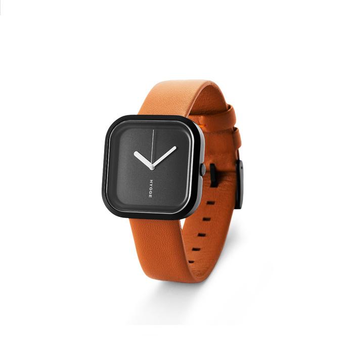 HYGGE 日本玩味時尚真皮腕錶 不鏽鋼銀色 / 不銹鋼黑