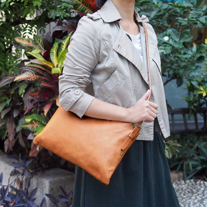 TEHA' AMANA|日系職人手工 輕量質感牛皮側背包