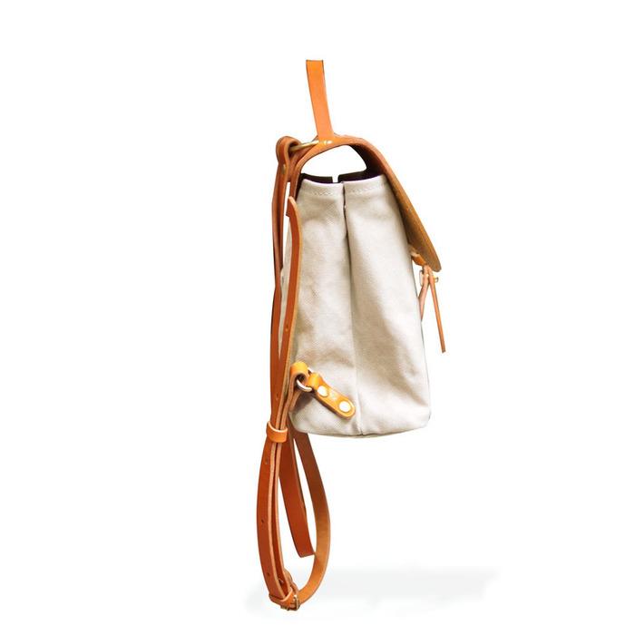 BAGGY PORT 日系質感 異材質植鞣牛革 X 防潑水帆布後背/側背包