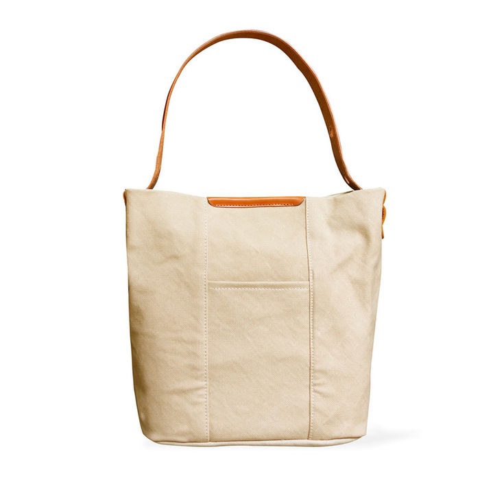 BAGGY PORT 日系質感 異材質植鞣牛革 X 防潑水帆布托特/側背包
