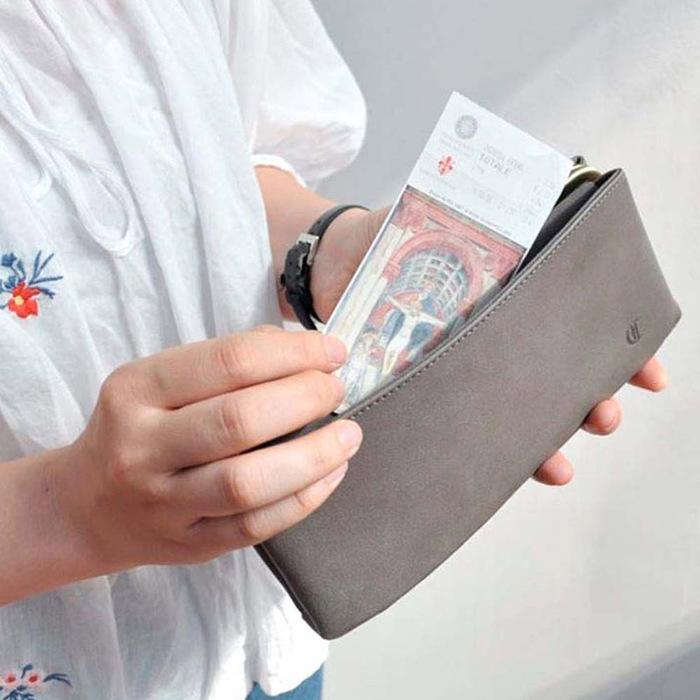 CLEDRAN 日本復古款  經典銖釦多層皮夾