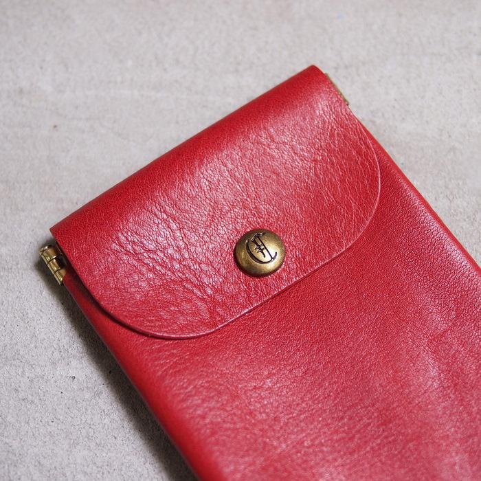 CLEDRAN|日系手縫 極薄牛皮眼鏡/鉛筆收納袋