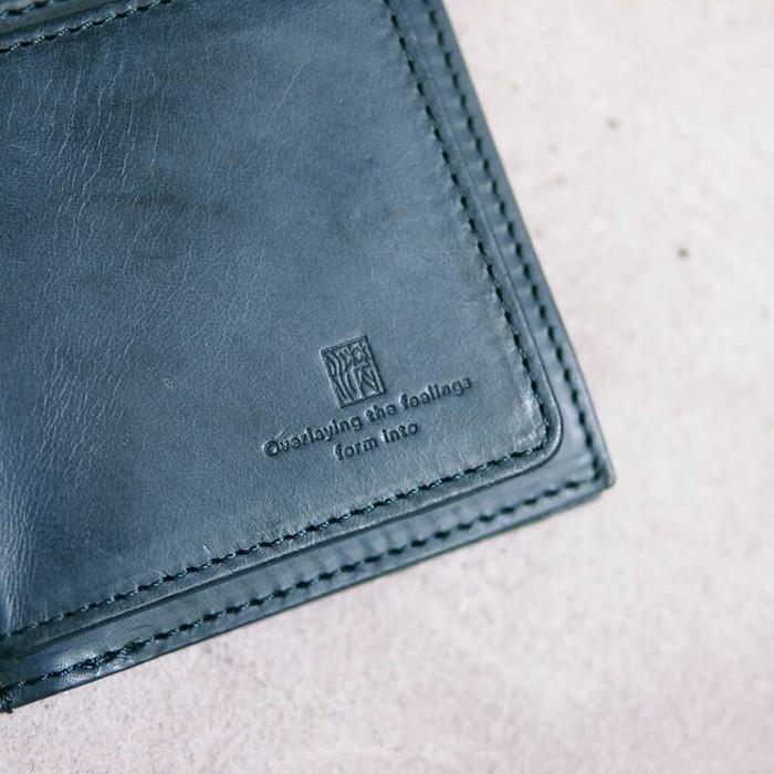 Baggy Port|日系手工藍染 經典牛皮拉鍊鑰匙包