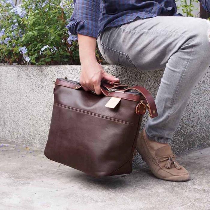 SUOLO 簡約時尚牛皮側背包