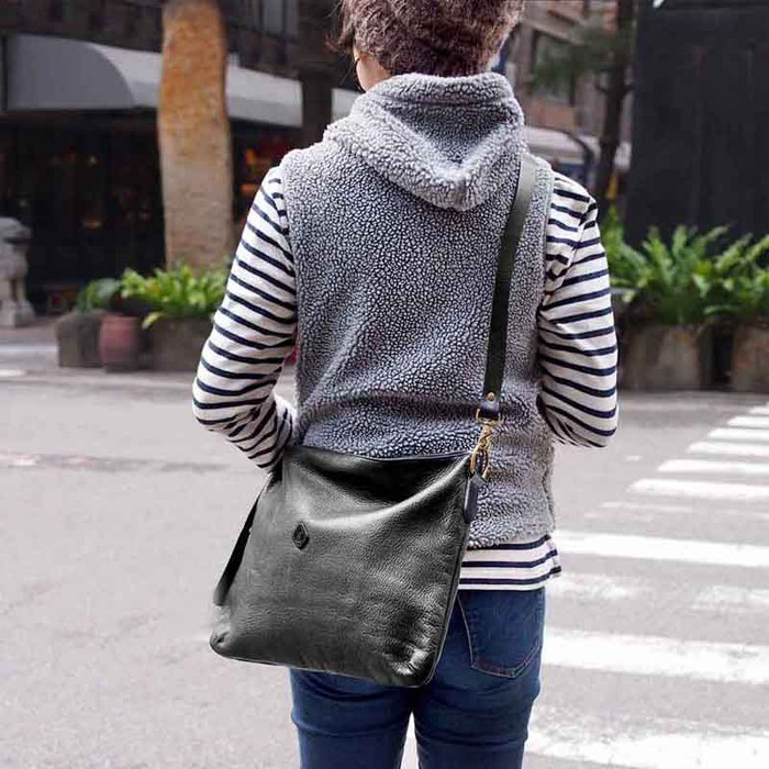 CLEDRAN|手工真皮簡約兩用側背包