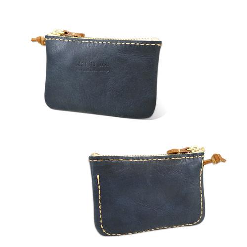 HANDIIN 創意手作  文青款牛皮手縫鑰匙圈包/零錢包