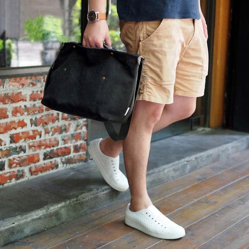 SUOLO|防潑水水洗帆布休閒側背包