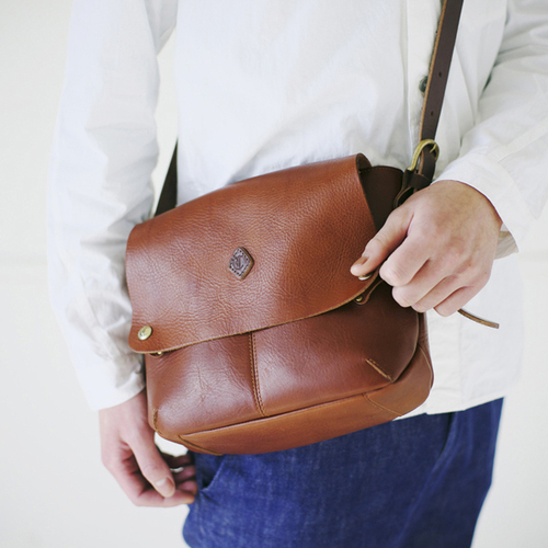 CLEDRAN|復古手作牛皮革兩用斜肩包