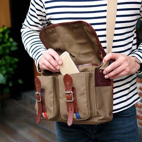 CLEDRAN|時尚包款  經典復古側背包  僅剩卡其色