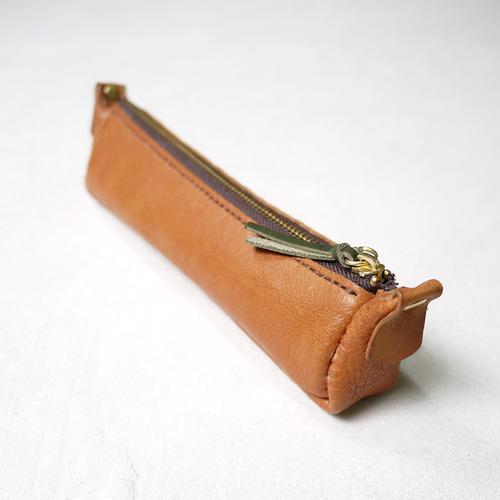 HANDIIN|手工縫線  植鞣牛皮拉鍊筆袋