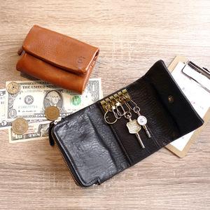 CLEDRAN 手工皮革鑰匙零錢包