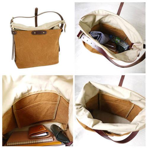 SUOLO|石蠟水洗厚磅數帆布隨行側背包