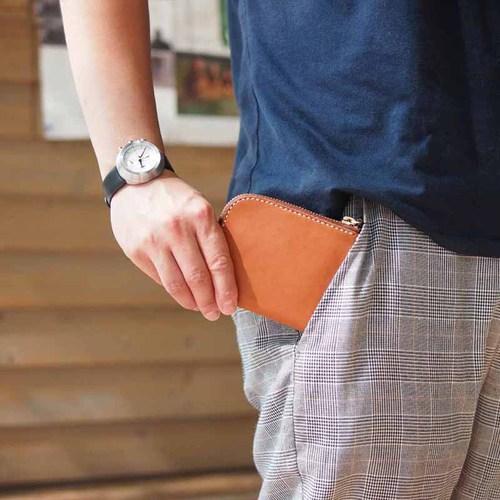 HANDIIN|日系職人首推  L型拉練卡片零錢夾