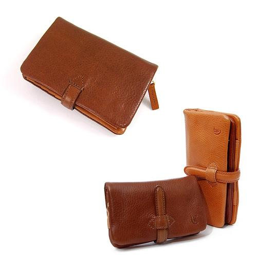 CLEDRAN|真皮手工皮帶扣短夾