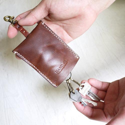 HANDIIN|日系 口袋型牛皮收納鑰匙包
