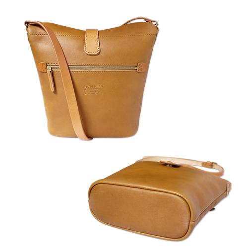 CLEDRAN|典藏曲線款 質感復古味磁鐵釦牛皮隨身側/肩兩用包