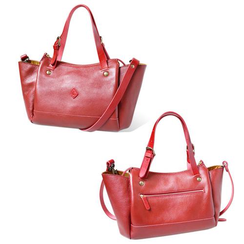 CLEDRAN|都會時尚 簡約牛皮托特/側背兩用包