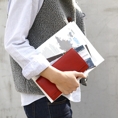 CLEDRAN|日本簡約牛皮多夾層皮夾長夾