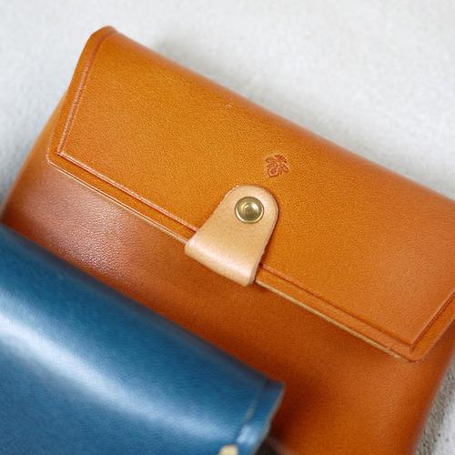 TEHA' AMANA|簡約普普風 蠟線手縫牛皮零錢包/卡片包