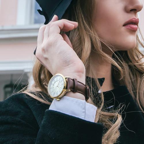 Camden Watch |純英國血統 玫瑰金英倫羅馬數字真皮腕錶