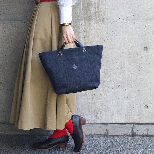 CLEDRAN|雜誌設計款  丹寧大容量簡約手提包/肩背包