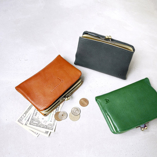 CLEDRAN 日本復古款 經典銖釦真皮短夾