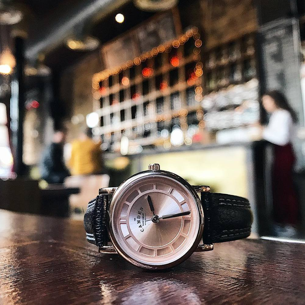Camden Watch|NO24系列 純英國血統 玫瑰金典雅高貴真皮腕錶