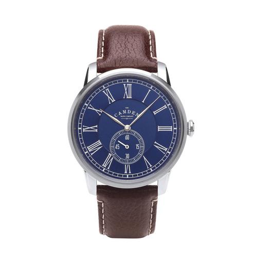Camden Watch NO29系列 純英國血統 單眼秒針大錶盤紳士棕色真皮腕錶